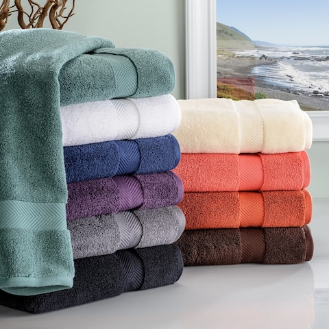 Miranda Haus Soft and Absorbent Oversized Zero Twist Cotton Bath Sheet (Set of 2)
