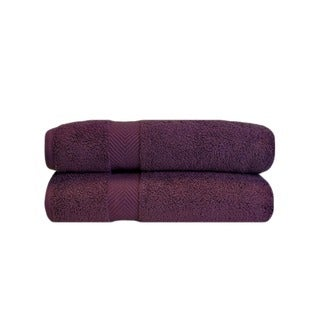 Superior Soft and Absorbent Oversized Zero Twist Cotton Bath Sheet (Set of 2)