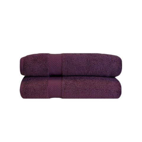 Miranda Haus Soft and Absorbent Oversized Zero Twist Cotton Bath Sheet (Set of 2)