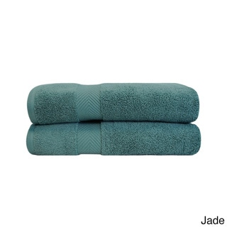 Superior Soft & Absorbent Zero Twist Cotton Bath Sheet (Set of 2)