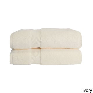 Superior Soft and Absorbent Oversized Zero Twist Cotton Bath Sheet (Set of 2) (Option: Ivory)
