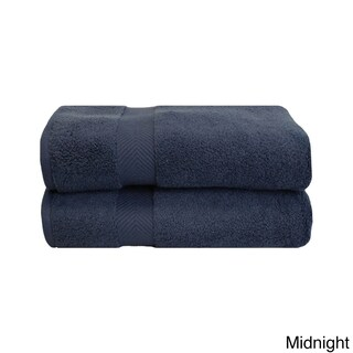 Superior Soft and Absorbent Oversized Zero Twist Cotton Bath Sheet (Set of 2) (Option: Midnight)
