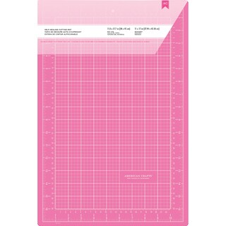 "Pink Double-Sided Self-Healing Cutting Mat 12""X18""-"