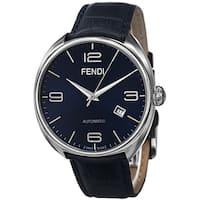 Fendi Men's F200013031 'Fendimatic' Blue Dial Blue Leather Strap Swiss Automatic Watch