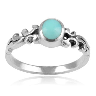 Journee Collection Sterling Silver Turquoise Fashion Ring
