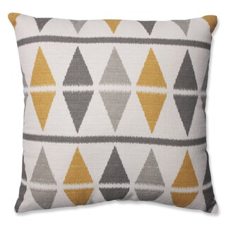 Pillow Perfect Ikat Argyle Birch Throw Pillow