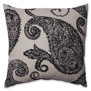 Pillow Perfect Henley Black/ Tan Throw Pillow