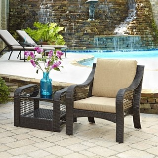 Lanai Breeze Accent Chair and End Table by Home Styles