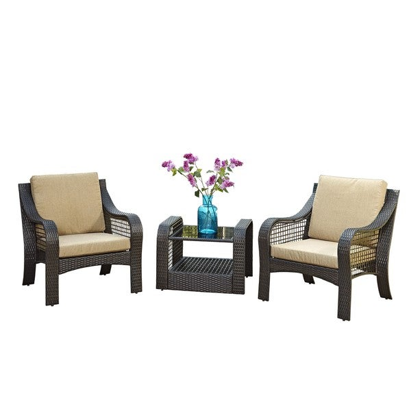 Lanai Breeze Two Accent Chairs And End Table By Home Styles