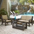 Home Styles Lanai Breeze Love Seat, Accent Chair, End Table, and Coffee Table