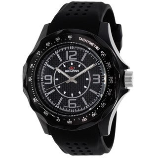 Seapro Men's SP4110 Dynamic Round Black Strap Watch