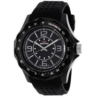 Seapro Men's SP4110 Dynamic Round Black Strap Watch