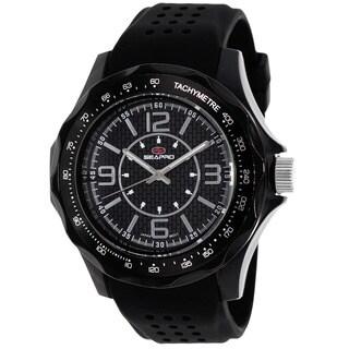 Seapro Men's Dynamic Round Black Strap Watch
