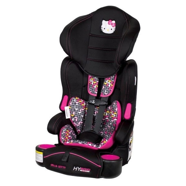 baby trend hybrid 3 in 1 booster seat in hello kitty pin wheel free shipping today overstock. Black Bedroom Furniture Sets. Home Design Ideas