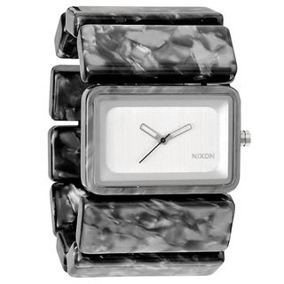 Nixon Women's A726-039 Vega Rectangle Grey Granite Blacelet Watch