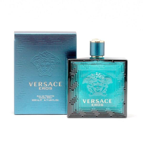 fe23dd6bf1b6 Shop Versace Eros Men s 6.8-ounce Eau de Toilette Spray - Free Shipping  Today - Overstock - 9796152