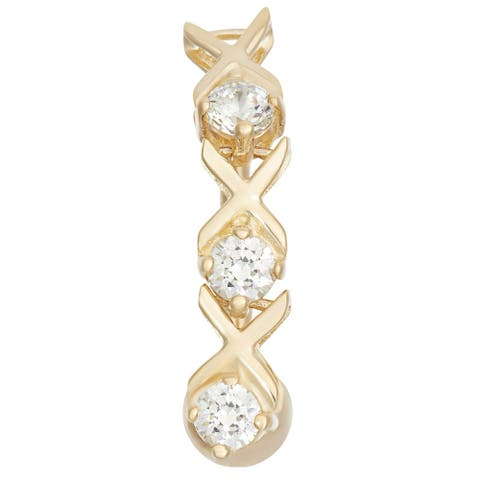10k Yellow Gold Cubic Zirconia XO Belly Ring