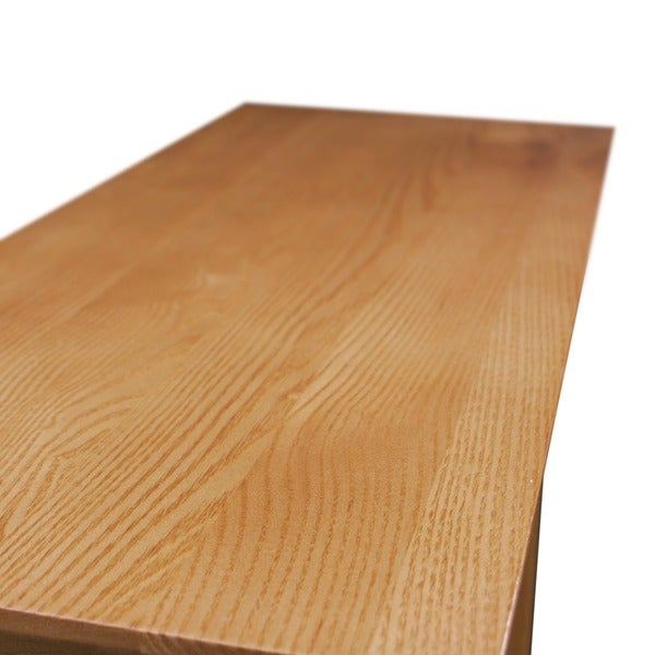 Solid Oak Recliner Wedge Table   Free Shipping Today   Overstock.com    16964597