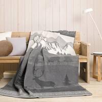 IBENA Nature Trail Jacquard Oversized Throw Blanket