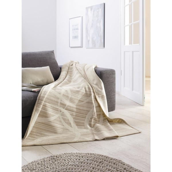 IBENA Solare Illusion Stripes Oversized Throw