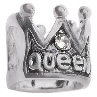 Queenberry Sterling Silver Queen Royal Crown European Bead Charm