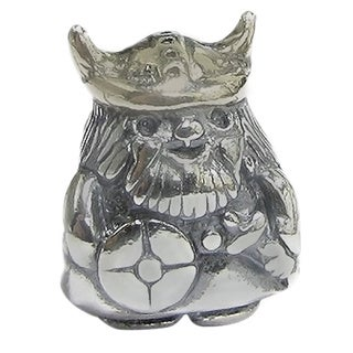 Queenberry Sterling Silver Viking Norseman European Bead Charm