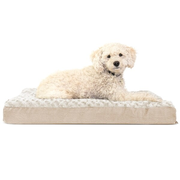 Orthopedic Quilted Water Repellent Ultra Plush Faux Fur Non-Skid Pet Crate or Kennel Foam Mattress Pet Bed w//Removable Cover for Dogs /& Cats Silver Large Furhaven Pet Dog Bed Kennel Pad