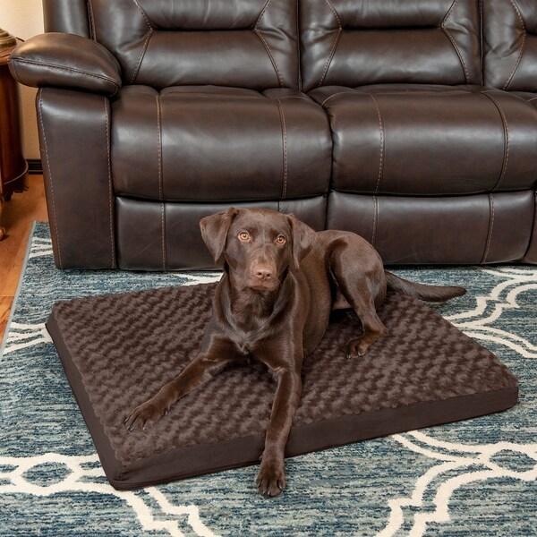 Shop FurHaven Pet Bed | Ultra Plush Deluxe Orthopedic
