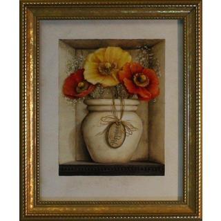 Lisa Audit 'Poppy Bouquet' Framed Art Print
