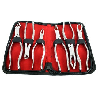 Dental Extracting Forceps 6-piece Kit with Velvet Pouch