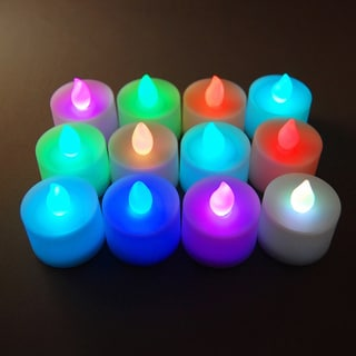 Battery Operated Color Changing LED Tea Light Candles (Set of 12)
