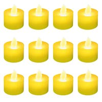 Battery-operated Amber LED Tealight Candles (Pack of 12)