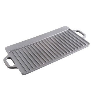 Addlestone 17-inch x 9-inch Cast Iron Reversible Griddle/ Grill with Handles