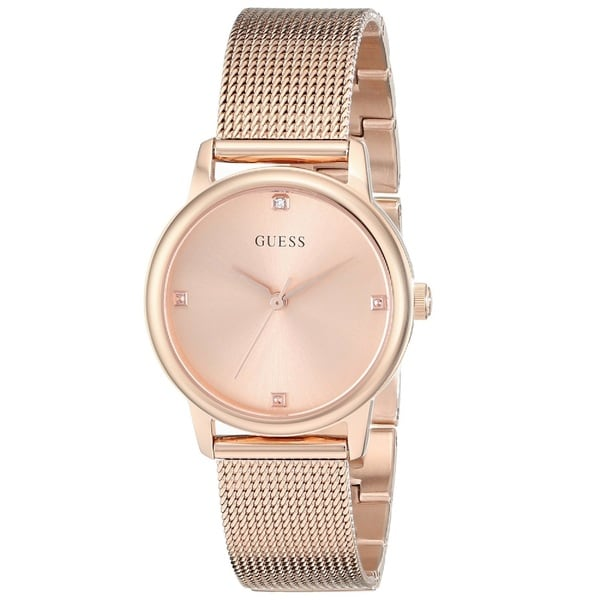Guess 'Classic' Women's U0532L3 Rose Gold Tone Stainless Steel Watch. Opens flyout.