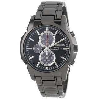 Seiko Men's SSC095 Classic Round Black Bracelet Watch