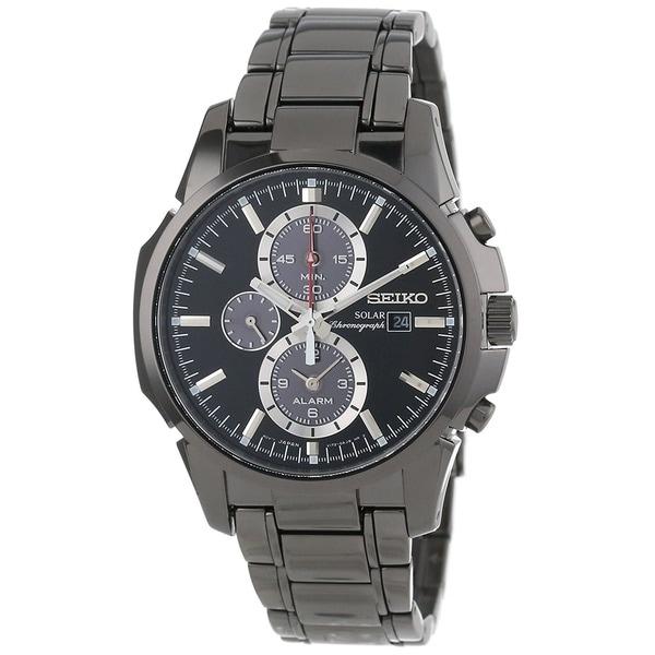 Seiko Men's SSC095 Classic Round Black Bracelet Watch