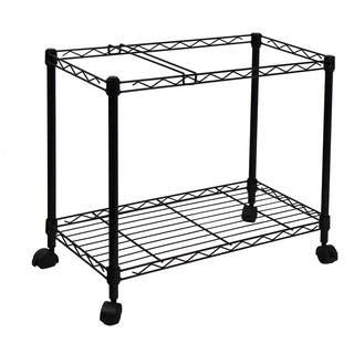 Oceanstar Portable 1-tier Black Metal Rolling File Cart|https://ak1.ostkcdn.com/images/products/9797025/P16965000.jpg?impolicy=medium