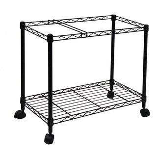 Oceanstar Portable 1-tier Black Rolling File Cart