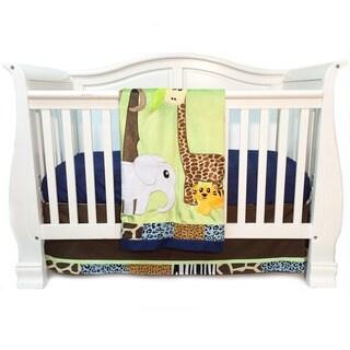 One Grace Place Jazzie Jungle Boy Infant 3-piece Crib Bedding Set