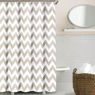 Echelon Home Chevron Shower Curtain (3 options available)