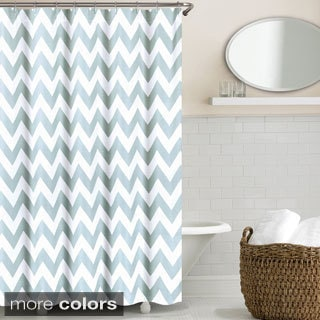 Echelon Home Chevron Shower CurtainShower Curtains   Shop The Best Deals for Sep 2017   Overstock com  . Yellow And Teal Shower Curtain. Home Design Ideas