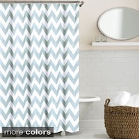 Echelon Home Chevron Shower Curtain