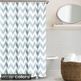 Echelon Home Chevron Shower Curtain (3 options available)