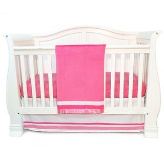 One Grace Place Simplicity Hot Pink Infant 3-piece Crib Bedding Set