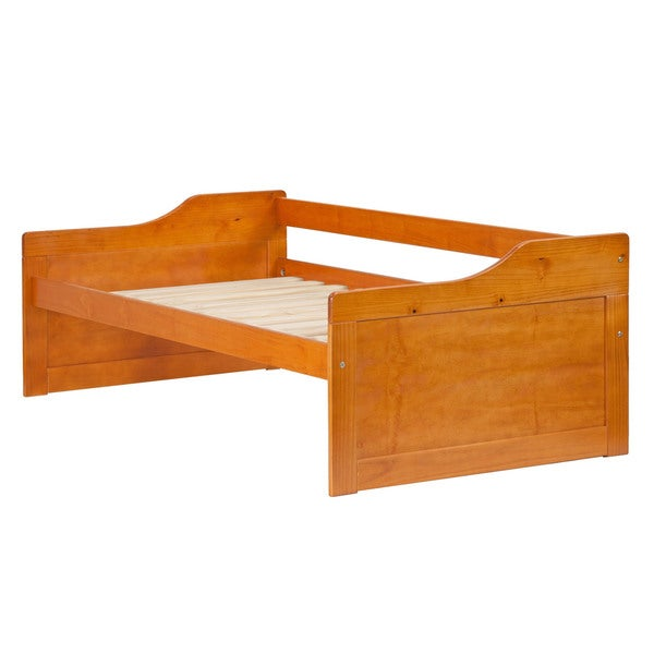 Palace imports rio 100 percent solid wood twin size day for Beds 3 4 size