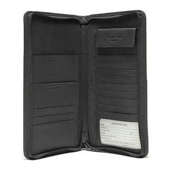 Millennium Leather International Document/Passport Case Black Florentine Napa Leather