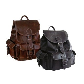 Amerileather Vacationer Jumbo Leather Backpack - Free Shipping ...