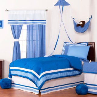 Simplicity Blue Twin/ Queen 100-percent Cotton Comforter Bed Set