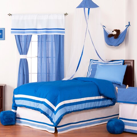 Simplicity Blue 8-piece Bed in a Bag with Sheet Set
