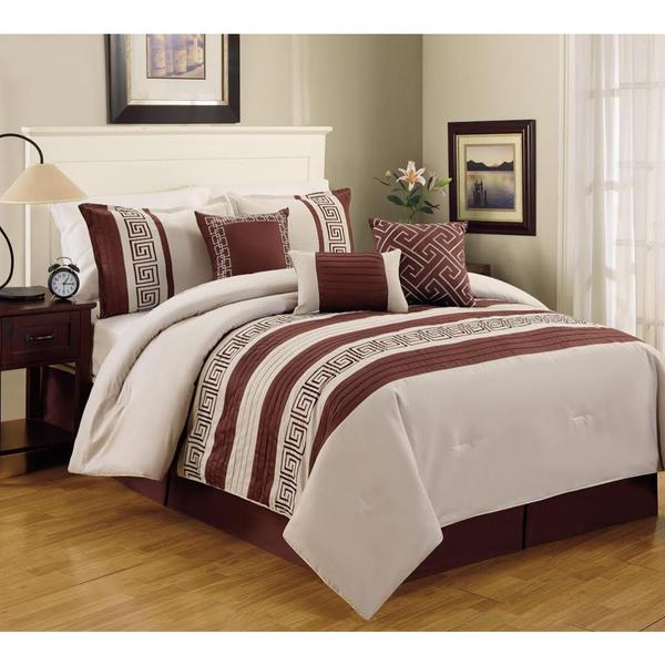 Greek Key 100-percent Cotton 6-piece Comforter Set